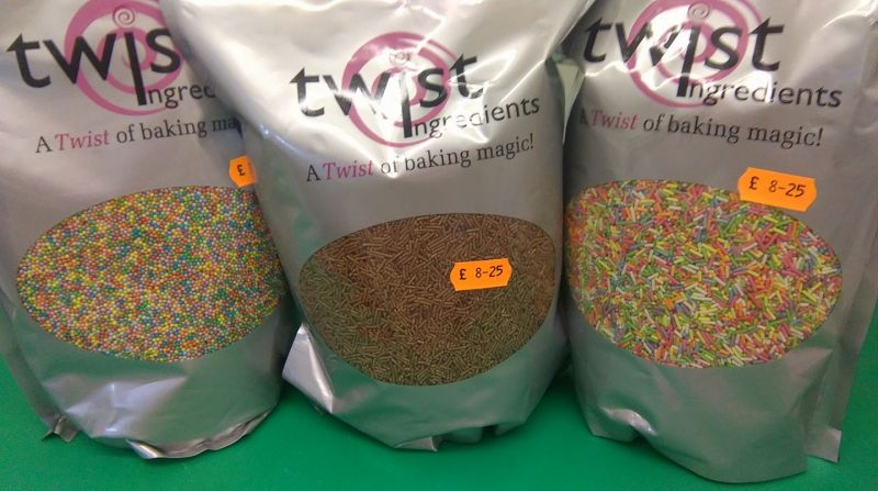 New products just in. 1 kilo bags of vermicelli, sugar strands and hundreds and thousands. Only £8.25: Swipe To View More Images