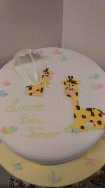 Baby shower cake for Laura whose baby is due in 6 weeks. Best wishes to you x: Swipe To View More Images