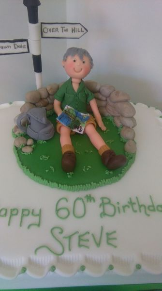 A cake for an enthusiastic rambler. Happy 60th Steve: Swipe To View More Images
